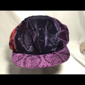 Hatterdashery floppy velvet hat.